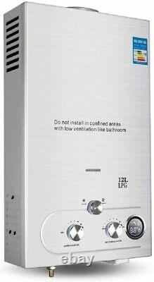 220v 12l-lpg Electric Tankless Chauffe-eau Chaude Instantanée Pour L'utilisation De La Douche De Cuisine