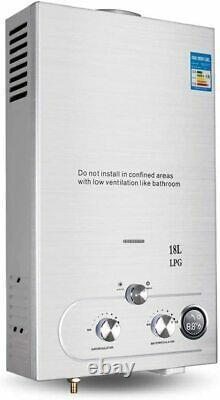 220v 18l-lpg Chauffage À Eau Chaude Sans Réservoir Électrique Instantané Pour L'utilisation De La Douche De Cuisine
