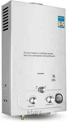 220v 8l-lpg Electric Tankless Chauffe-eau Chaude Instantanée Pour L'utilisation De La Douche De Cuisine