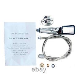 8l/min Gpl Propane Gaz Chauffe-eau Sans Réservoir Kit De Douche D'eau Chaude Instantanée 2,11gm