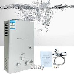 8l16kw Chauffe-eau Chaude Gaz Lpg Propane Douche De Chauffage Instantané Sans Réservoir