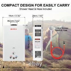 Camplux 16l 32kw Instant Hot Water Heater Tankless Gas Boiler Lpg Propane Shower