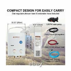 Camplux 5l 1.32 Gpm Extérieur Propane Gas Tankless Water Heater Nouveau