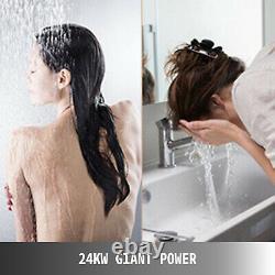 Chaudière À Eau Chaude Électrique Instantanée 24kw Chauffe-eau Sans Réservoir Numérique