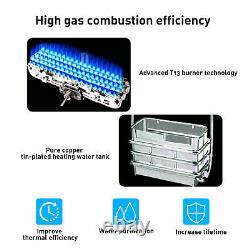 Chauffe-eau Chaud Instantané 10l 20kw Tankless Gas Boiler Lpg Propane Led Display