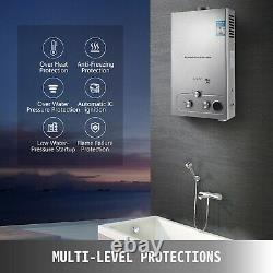 Chauffe-eau Chaude À Gaz Propane Sans Réservoir 18l Avec Filtre À Eau À Tête De Douche