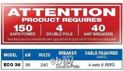 Chauffe-eau Électrique Ecosmart 36 Kw 240-volt 6 Gpm Auto-modulant Tankless