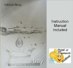Chauffe-eau Électrique Sans Réservoir Eau Chaude Instantanée 11kw @ 220v 12,6kw @ 240v