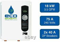 Chauffe-eau Électrique Sans Réservoir Maison Entière Instantanée Chaud Sur Demande Ecosmart 18 Kw