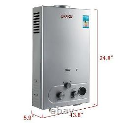 Chauffe-eau Gpl 12l 3.2gpm Propane Gas Tankless Stainless Instant 24kw Hot Wate