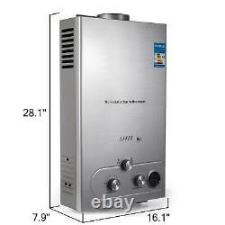 Chauffe-eau Propane Gaz Lpg Tankless 6/8/10/12/16/18l 4.8gpm Aciers Inoxydables