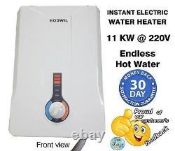 Chauffe-eau Sans Réservoir Électrique Endless Instant Hot Water 11kw @ 220v Rodwil