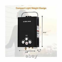 Chauffe-eau Sans Réservoir Instant Gasland Extérieur Be158b 1.58gpm 6l Portable Noir