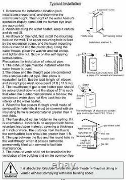 Chauffe-eau Sans Réservoir Marey Propane 8,34 Gpm Ga24csalp Csa Approuvé États-unis Canada