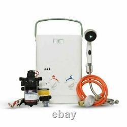Chauffe-eau Sans Réservoir Portable Eccotemp Cel5 Avec Pompe Et Souche Eccoflo 12v