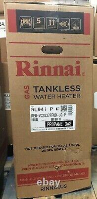 Chauffe-eau Sans Réservoir Rinnai Rl94ip, Gaz Propane, Non Condensé 9.4 Gpm