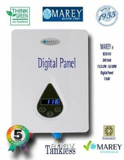 Chauffe-eau Tankless Electric Best Tiny House 3 Gpm 220v Marey Eco110 Concessionnaire