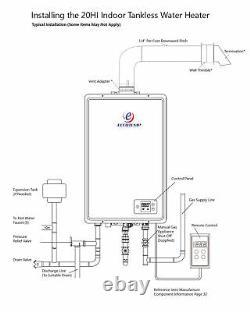 Eccotemp 20hi Intérieur 6,0 Gpm Gaz Naturel Chauffe-eau Sans Réservoir Vendeur Us