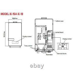 Eccotemp Ie-18 Chauffe-eau Électrique Sans Réservoir Intérieure 2,5 Gpm 18 Kw 240 Volt