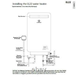 Eccotemp Tankless Water Heater El22 Outdoor Natural Gas 6.8 Gpm Vendeur Américain
