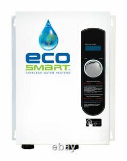 Ecosmart Eco18 18kw 240v White Monophasé Chauffe-eau Électrique Sans Réservoir