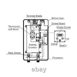 Electric Tankless Water Heater Digital Panel Par Marey Eco150 14.6 Kw 220-240v
