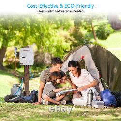 Gaz Chauffe-eau Chaude Instantanée Sans Réservoir Gpl Propane 5l Chaudière Camping Rv Outdoor