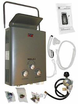 Iheat Agl-5 Drakken 1,4 Gpm Chauffe-eau Portatif Au Propane Liquide Sans Réservoir