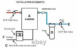 Iheat S-16 Drakken 16kw Chauffe-eau Électrique Sans Réservoir Acier Inoxydable 240v