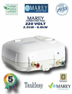 Marey Electric Pou Tankless Water Heater Pp220 2.5gpm 220v Rénové Vendeur Américain
