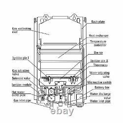 Marey Ga10lp Propane Gas Tankless Water Heater Liquide 10l 3.1 Gpm Blanc Compact