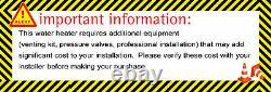 Marey Ga14csang 3.7 Gpm Gaz Naturel Sans Réservoir Chauffe-eau Csa États-unis Canada Approuver