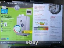 Nouveau Rheem Ecoh200dvln-2 Platinum 9.5gpm Gaz Naturel Chauffe-eau Intérieur Sans Réservoir