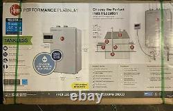 Nouveau Rheem Ecoh200dvln Platinum 9.5 Gpm Gaz Naturel Chauffe-eau Intérieure Sans Réservoir