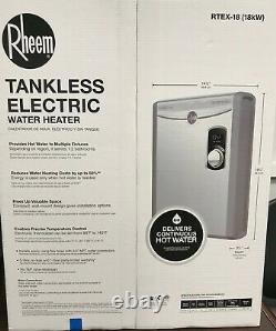 Rheem Rtex-18 Electric Tankless Chauffe-eau Nouveau