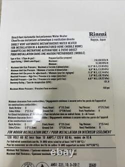 Rinnai V65ip Chauffe-eau Sans Réservoir Gaz Propane Reu-vc2025ffu-us-p Q-32