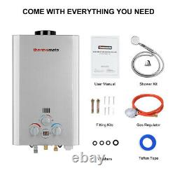 Thermomate 8l 16kw Hot Water Heater Gas Boiler Tankless Lpg Propane Outdoor Kit