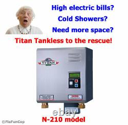 Titan N-210 Tankless Water Heater Nouveau Scr4 Digital Electric Modèle Free Ship