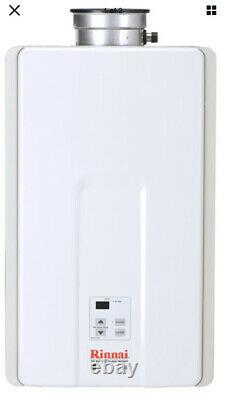 Tout Nouveau Rinnai V65in 6.5 Gpm Résidentiel Indoor Natural Gas Tankless White